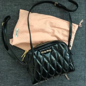 Miu Miu Matelassé Leather Mini Bag